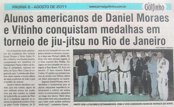 Rio de Janeiro newspaper article about our competitors