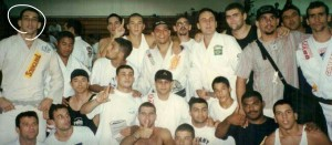 Victor with Team Gracie Humaita at the 96 Pan Ams