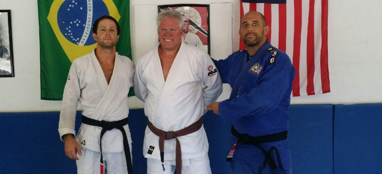 Big Mike Earns first stripe on brown belt