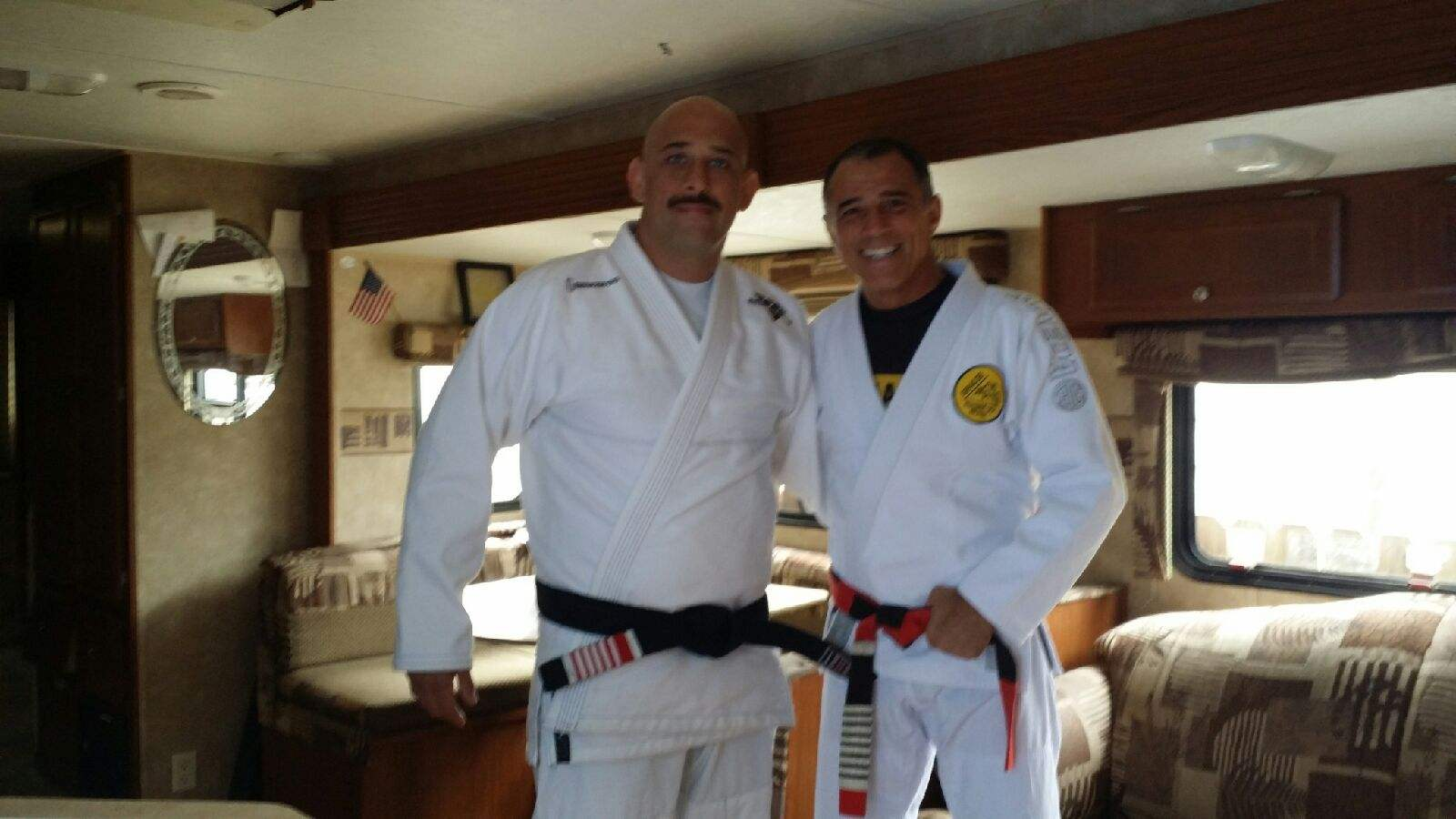 Victor Huber and Royler Gracie