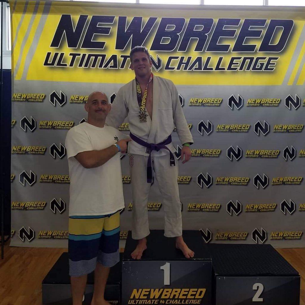 Jason wins gold in purple belt adult division